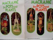 Macrame Patterns Shelves Lots Of Owls And Plant Hangers Vtg - See Pics