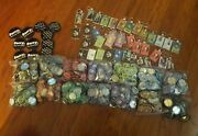 All New Lot Of 700+ Pinbacks Buttons Pins Badges Funny Crafts+40 Keychains Vhtf
