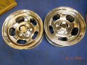 Vintage 16.5 X 8-1/4 Slot Mag Wheels Ford Truck Jeep 70and039s Van F-100 E-150 4x4