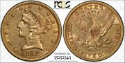 1892-s 5 Gold Liberty Head Half Eagle Coin Pcgs Xf45 Secure Holder Gold Label