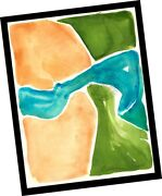 Water Trough The Valley Ventura 2015 Abstract Contemporary Art Painting Signed