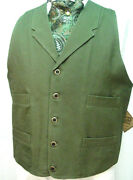Frontier Classics Old West Victorian Westworld Son Style Olive Green Mens Vest