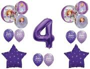 Awesome Sofia The First 4th Birthday Party Balloons Decoration Supplies Orbz