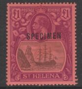 125 St Helena 1922 Kg5 Andpound1 Specimen With Broken Frame Variety - Only 7 Can Exist