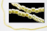 Db233- 11/0 Yellow Lined Crystal Luster Delica Beads