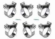 6x Stainless Steel Clamps For German Fuel Hose 5mm Id 2.5 For Vw Applications
