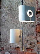 Stilux Italy Production Design Years And03970 Two Point Light Ceiling Lamp Alluminium