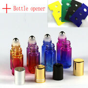Colorful Bottle And Opener Gradient Glass Roll Metallic Roller Ball Essential Oil