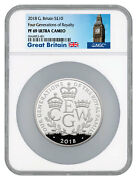 2018 G Britain Four Generations Royalty 5 Oz Silver Andpound10 Ngc Pf69 Uc