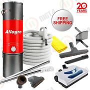 Powerful 3000 Sq Ft Allegro Central Vacuum Electrolux Electric Powerhead Package