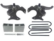 2/4 Drop Spindles And Blocks 2 Front 4 Rear Lowering Kit For Chevy S10 2wd