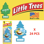 Little Trees Caribbean Colada Freshener Air Tree 10324 Made In Usa Pack Of 24