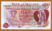 Bank Of Ireland Northern 100 Pounds Nd 1980s P-68b Unc Rare