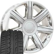 Oew Fits 22x9 Wheels And Tires Chevy Gm Escalade Chrome Rims W/ironman 4739