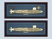 Custom Uss Sturgeon 637 Class Submarine Cutaway Museum Quality Wood Your Choice