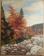 Signed Margo Vintage Mystery Old Impressionist Plein Air New Hampshire Oil Ptg