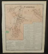 New York Steuben County Map Canisteo 1873 J2097