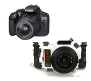 Nimar Underwater Dslr Package For Canon Eos 1300d / T6 With Camera And 18-55mm L