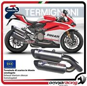 Termignoni Force 2 Exhausts Titan Approved Ducati Panigale 959 2016