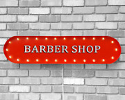 39 Barber Shop Beauty Salon Haircuts Vintage Rustic Metal Marquee Light Up Sign