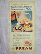 1956 Magazine Advertisement Page Instant Pream Coffee Creamer Cup Pot Vintage Ad