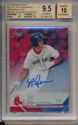 Andrew Benintendi Red Sox 2016 Bowmanand039s Best Red Ref 2/5 Bgs 9.5 10 Auto