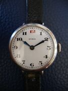 Antique .935 Sterling Silver Ladies Sybil Wristwatch Dating 1919 Running