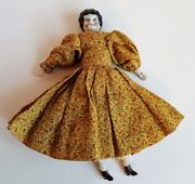 Antique Jenny Lind Porcelain Doll, German, 7 Tall, Nice Clothes