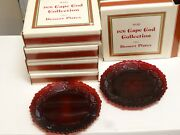Lot Of 10 Vintage Avon 1876 Cape Cod Collection Ruby Red Dessert Plates 7