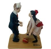 Norman Rockwell Figurine 12 Vintage 1980 First Dance Danbury Mint Statue Shoes