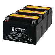 Mighty Max Ytx7a-bs Battery Replacement For Exide Ytx7a-bs Motorcycle - 3 Pack
