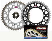 Renthal Grooved Front And Twinring Rear Sprocket And R1 Chain Kit - Suzuki Drz400