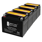 Mighty Max Ytx9-bs Battery Replaces Honda Cbr 600 900r Vt600c Xr650l - 4 Pack