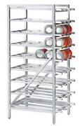 Advance Tabco Cr10-162-x Aluminum Full Can Rack Stationary Holds 162 10 Cans