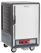 Metro C535-cfs-4-gy 1/2 Mobile Holding/proofing Cabinet Fixed Wire W/ Solid Door