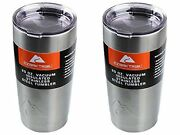 New Ozark Trail 20-ounce Double-wall Vacuum-sealed Tumbler 2 Silver Lot