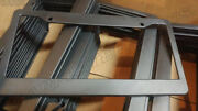 Lot Of 50 Blank Black Plastic 50 Pieces License Plate Frame Frames With Tabs 1
