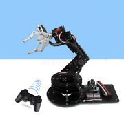 Assembled 6 Dof Robot Arm Clamp Claw Kit Rotating Base Servo Controller Handle