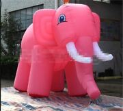6m Long Giant New Inflatable Pink Elephant For Sale Simulated Models Custom Ip