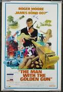 Roger Moore Signed 24x36 The Man With The Golden Gun Movie Poster A Psa/dna
