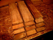 Ten Thin Pieces Kiln Dried Pieces Of Sanded Feq Teak Lumber Wood 12 X 3 X 1/4