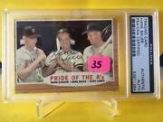 Hank Buaer, Siebern, Lumpe 1962 Topps Pride Of The A's, Auto 127 Psa/dna, A's
