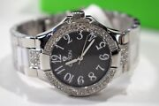 Croton Menand039s Watch White Crystal Grey Guilloche Dial Rhodium Plated Brass