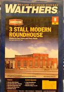 New N Walthers 933-3260 3 Stall Modern Roundhouse Kit