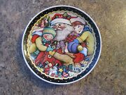 Mary Engelbreit 7 Santa Claus Plate Collectible Cookies - Kids Cookies - Ludlot