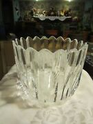 Orrefors Crystal Art Glass Large Signed Bowl 7 X 9 Win
