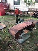 3 Phase Belt Sander Industrial Use Metal Or Woodworking Heavy Mold Green.