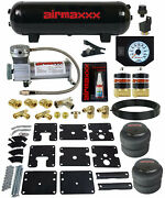 Air Tow Assist Kit No Drill 99-06 Chevy Silverado 1500 Compressor Tank Wht Gauge