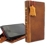 Genuine Leather Case For Samsung Galaxy Note 9 Handmade Cover Luxury Book Bible