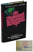 Restaurant At The End Of The Universe Signed By Douglas Adams First Edition 1st